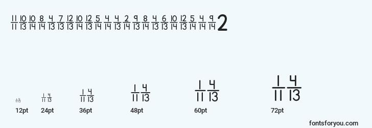 sizes of kgtraditionalfractions2 font, kgtraditionalfractions2 sizes