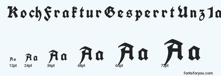 sizes of kochfrakturgesperrtunz1a font, kochfrakturgesperrtunz1a sizes