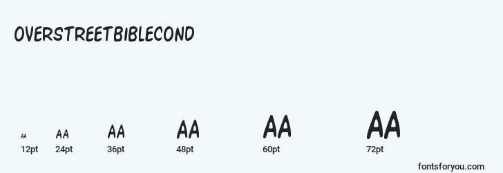 sizes of overstreetbiblecond font, overstreetbiblecond sizes