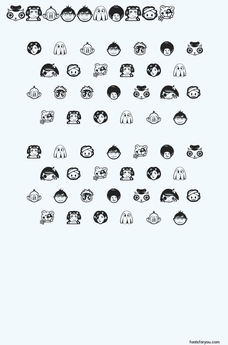 characters of randomface1 font, letter of randomface1 font, alphabet of  randomface1 font