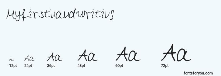 sizes of myfirsthandwriting font, myfirsthandwriting sizes
