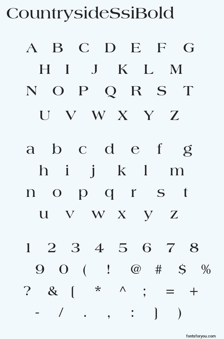characters of countrysidessibold font, letter of countrysidessibold font, alphabet of  countrysidessibold font
