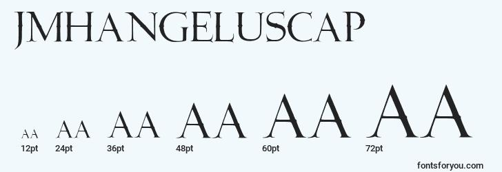 sizes of jmhangeluscap font, jmhangeluscap sizes
