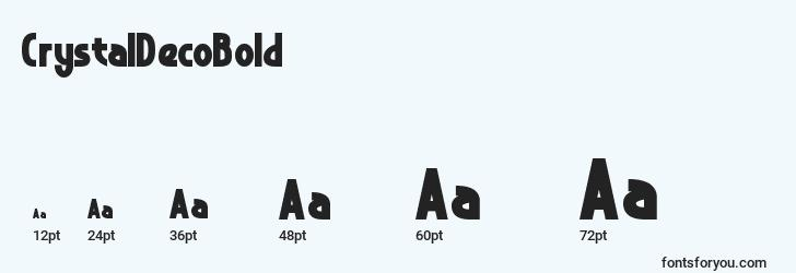 sizes of crystaldecobold font, crystaldecobold sizes