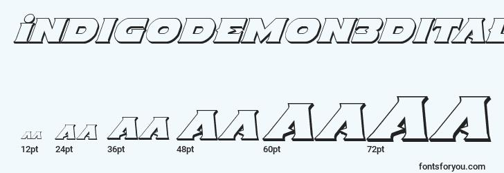 sizes of indigodemon3dital font, indigodemon3dital sizes