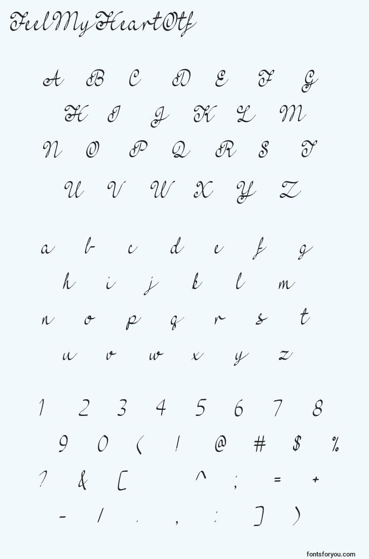 characters of feelmyheartotf font, letter of feelmyheartotf font, alphabet of  feelmyheartotf font