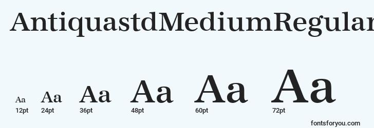 sizes of antiquastdmediumregular font, antiquastdmediumregular sizes