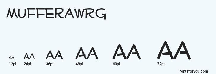 sizes of mufferawrg font, mufferawrg sizes