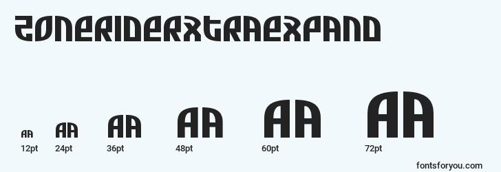 sizes of zoneriderxtraexpand font, zoneriderxtraexpand sizes