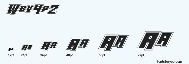 sizes of wbv4p2 font, wbv4p2 sizes