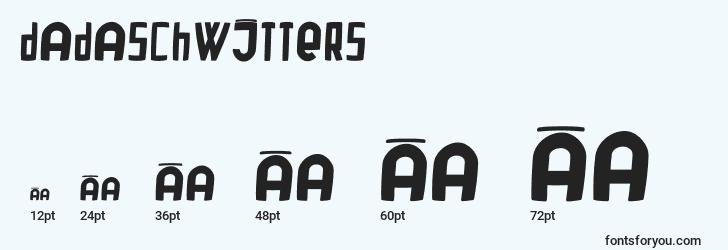 sizes of dadaschwitters font, dadaschwitters sizes