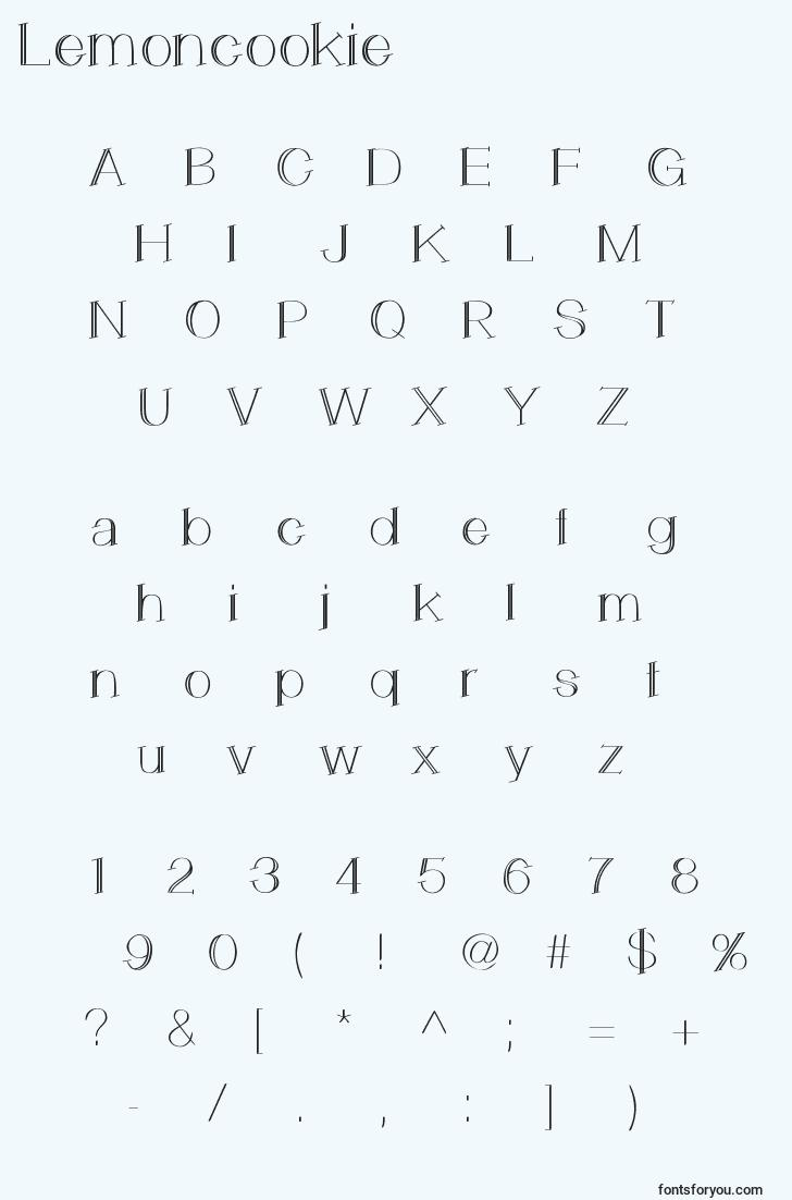 characters of lemoncookie font, letter of lemoncookie font, alphabet of  lemoncookie font