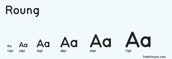 sizes of roung font, roung sizes