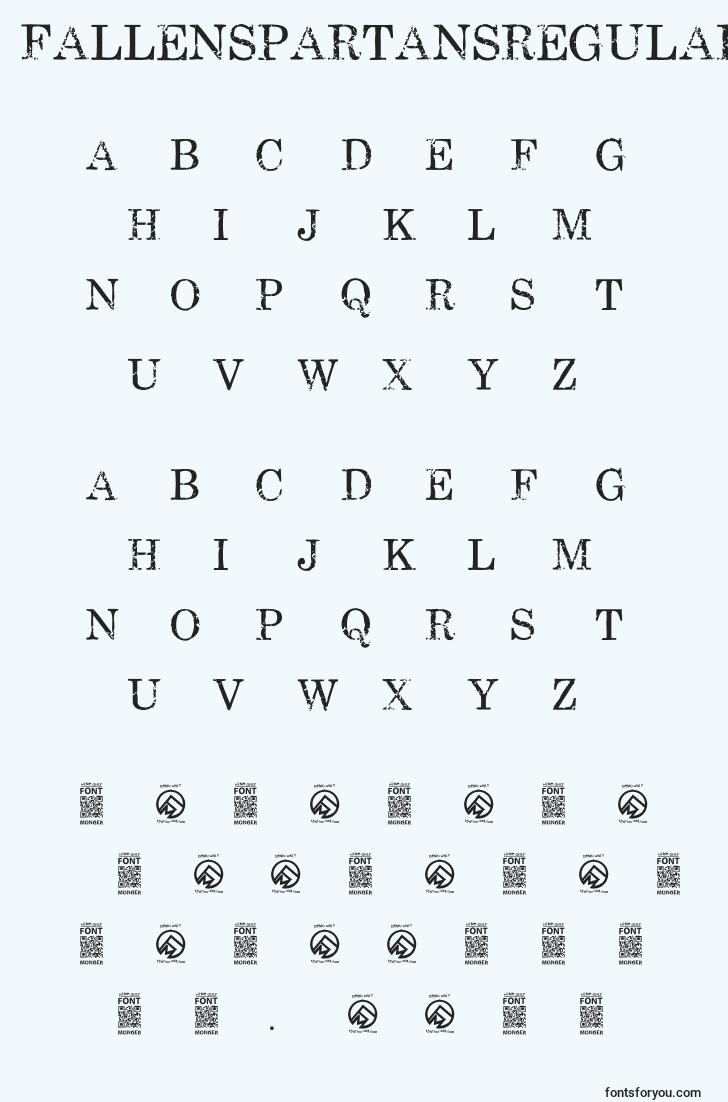 characters of fallenspartansregular font, letter of fallenspartansregular font, alphabet of  fallenspartansregular font