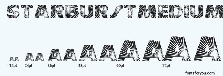 sizes of starburstmedium font, starburstmedium sizes