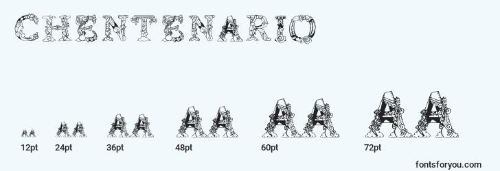 sizes of chentenario font, chentenario sizes