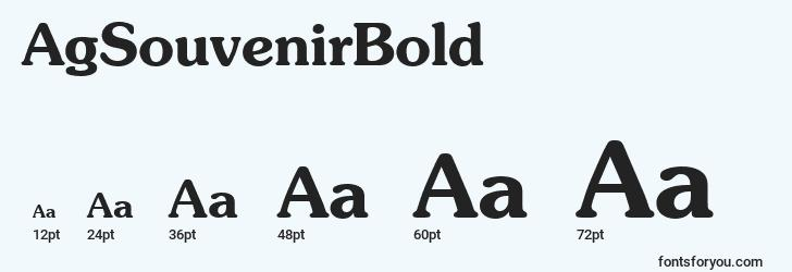 sizes of agsouvenirbold font, agsouvenirbold sizes