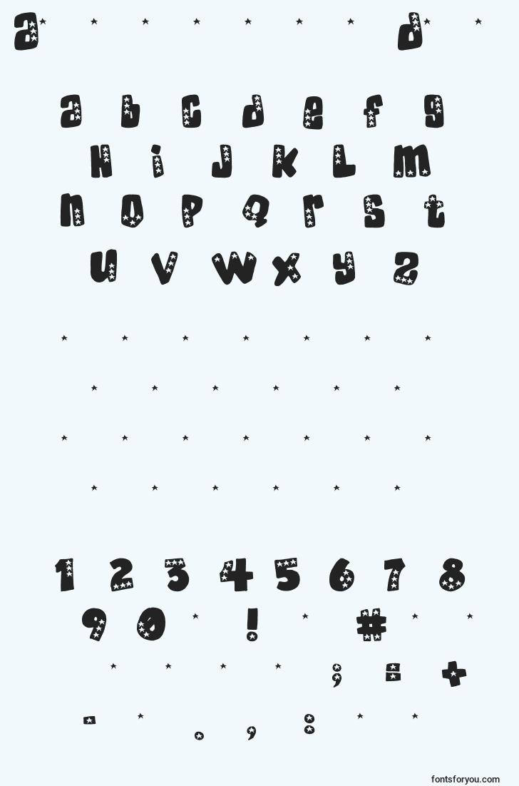characters of americandonuts font, letter of americandonuts font, alphabet of  americandonuts font