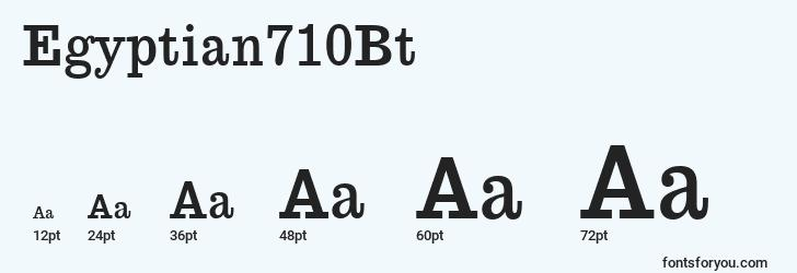 sizes of egyptian710bt font, egyptian710bt sizes