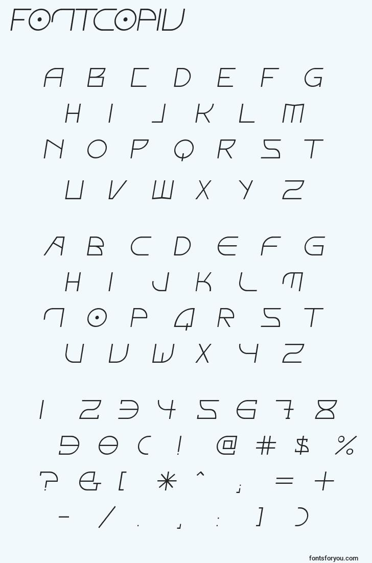 characters of fontcopiv font, letter of fontcopiv font, alphabet of  fontcopiv font