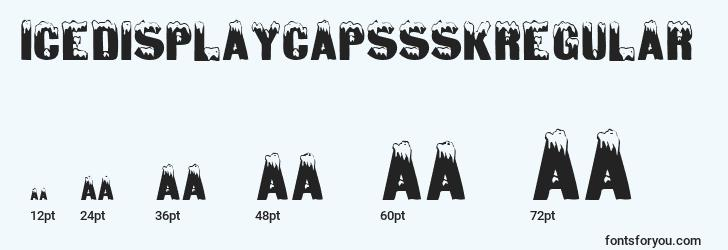 sizes of icedisplaycapssskregular font, icedisplaycapssskregular sizes