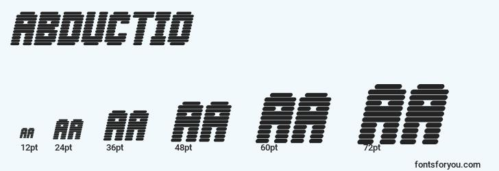 sizes of abductio font, abductio sizes