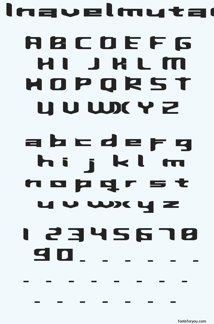 characters of inavelmutant font, letter of inavelmutant font, alphabet of  inavelmutant font