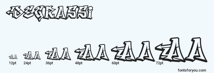 sizes of degrassi font, degrassi sizes