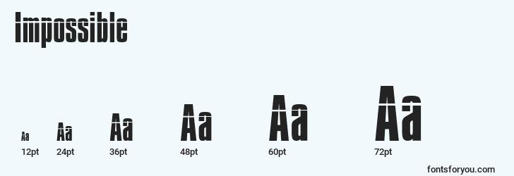 sizes of impossible font, impossible sizes