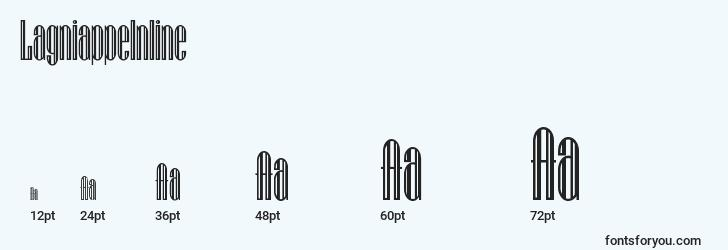 sizes of lagniappeinline font, lagniappeinline sizes