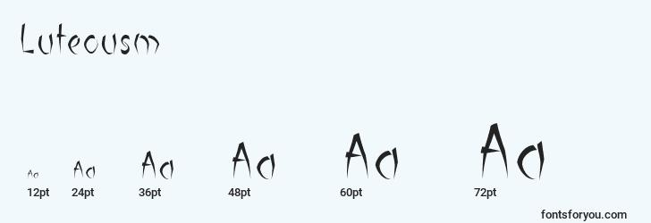 sizes of luteousm font, luteousm sizes