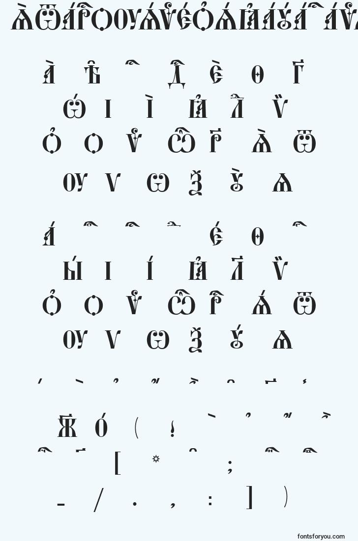 characters of starouspenskayacapskucs font, letter of starouspenskayacapskucs font, alphabet of  starouspenskayacapskucs font