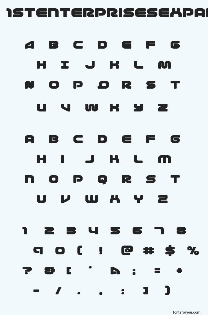 characters of 1stenterprisesexpand font, letter of 1stenterprisesexpand font, alphabet of  1stenterprisesexpand font