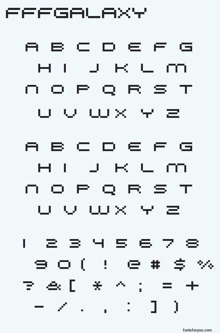 characters of fffgalaxy font, letter of fffgalaxy font, alphabet of  fffgalaxy font