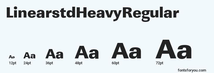 sizes of linearstdheavyregular font, linearstdheavyregular sizes