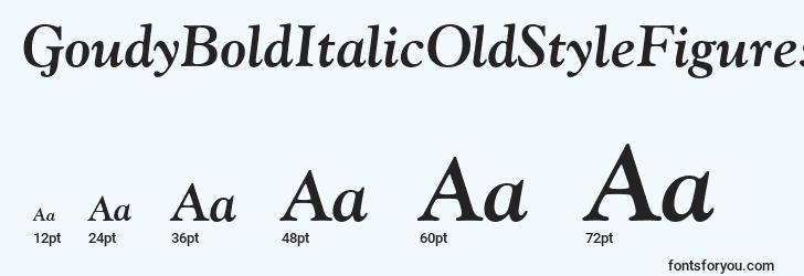 sizes of goudybolditalicoldstylefigures font, goudybolditalicoldstylefigures sizes