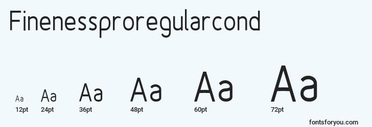 sizes of finenessproregularcond font, finenessproregularcond sizes
