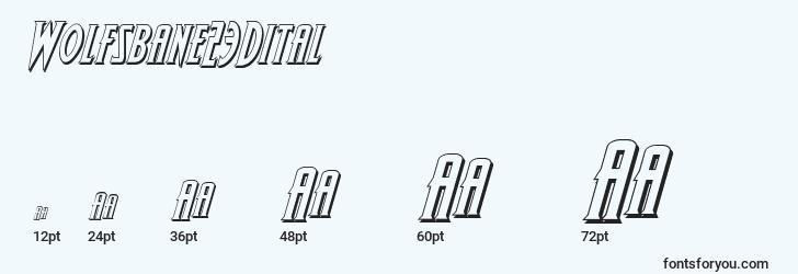 sizes of wolfsbane23dital font, wolfsbane23dital sizes