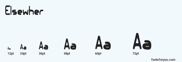 sizes of elsewher font, elsewher sizes