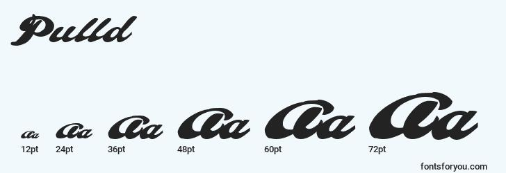 sizes of pulld font, pulld sizes