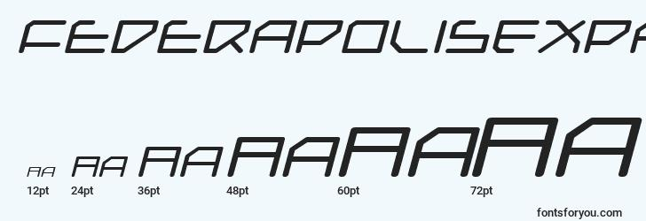 sizes of federapolisexpandeditalic font, federapolisexpandeditalic sizes