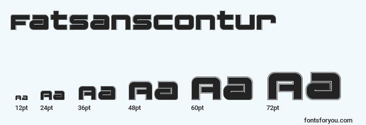 sizes of fatsanscontur font, fatsanscontur sizes