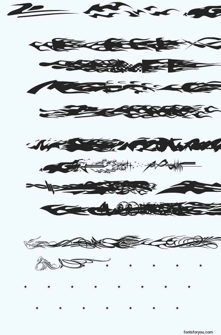 characters of vehicledecalsflamesart font, letter of vehicledecalsflamesart font, alphabet of  vehicledecalsflamesart font