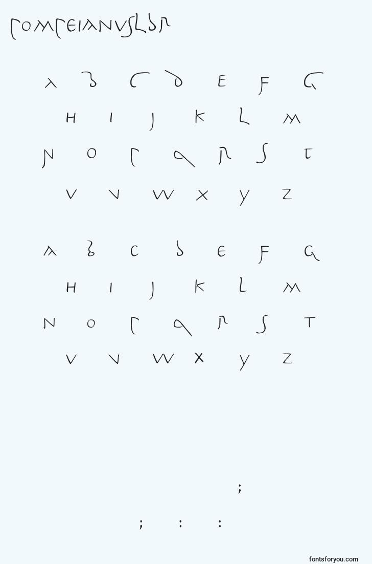 characters of pompeianusldr font, letter of pompeianusldr font, alphabet of  pompeianusldr font