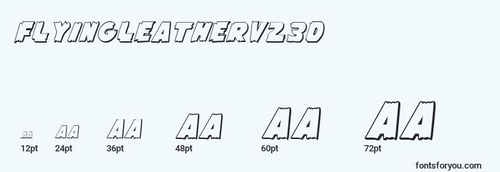 sizes of flyingleatherv23d font, flyingleatherv23d sizes