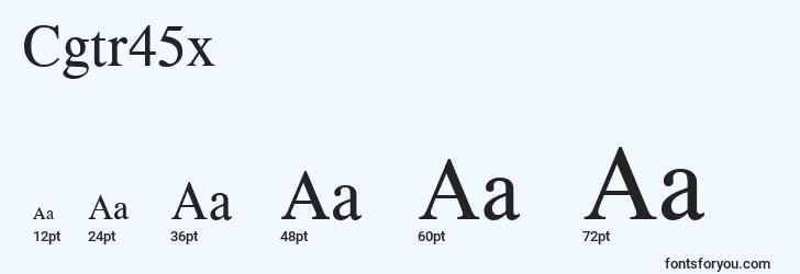 sizes of cgtr45x font, cgtr45x sizes