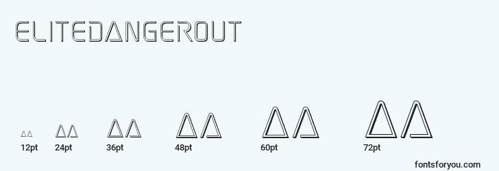 sizes of elitedangerout font, elitedangerout sizes