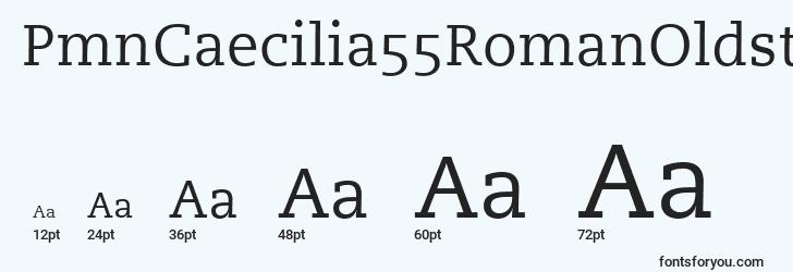 sizes of pmncaecilia55romanoldstylefigures font, pmncaecilia55romanoldstylefigures sizes