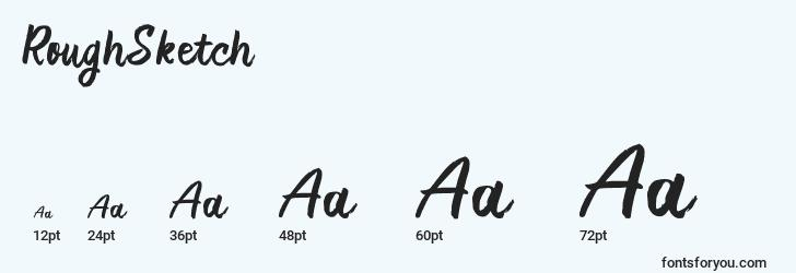 sizes of roughsketch font, roughsketch sizes