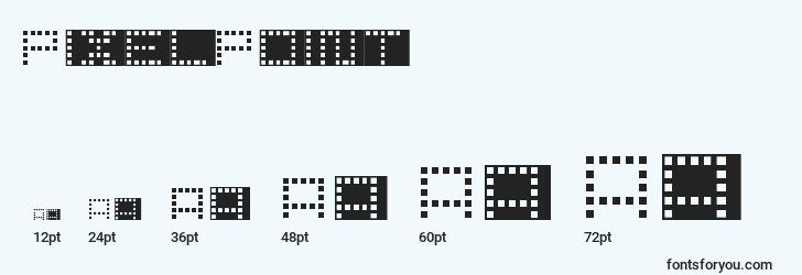 sizes of pixelpoint font, pixelpoint sizes